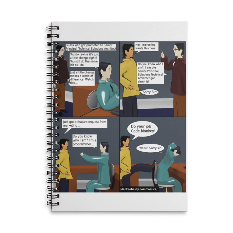 Slap the Baldy: The True Value of a Job Title Accessories Notebook by SushiMouse's Artist Shop
