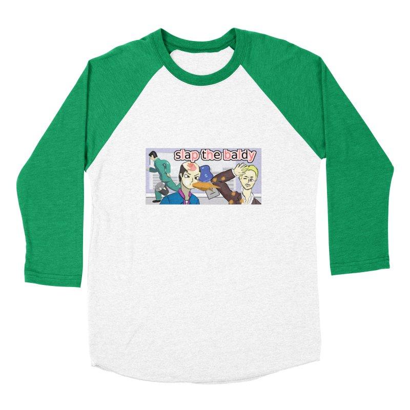 Slap the Baldy Men's Baseball Triblend Longsleeve T-Shirt by SushiMouse's Artist Shop