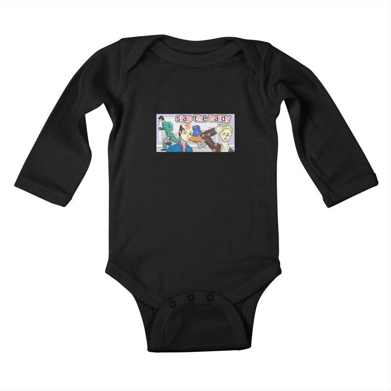 Slap the Baldy Kids Baby Longsleeve Bodysuit by SushiMouse's Artist Shop