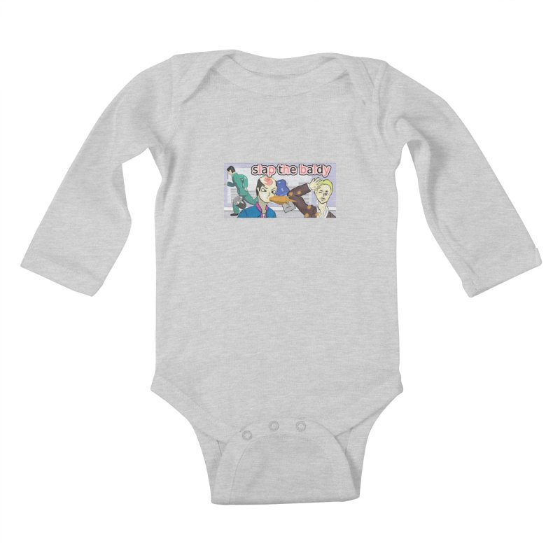 Slap the Baldy Kids Baby Longsleeve Bodysuit by SushiMouse's Artist Shop
