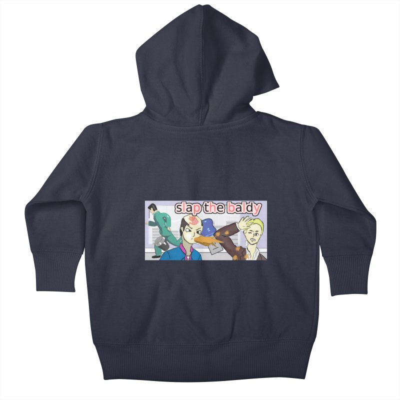 Slap the Baldy Kids Baby Zip-Up Hoody by SushiMouse's Artist Shop