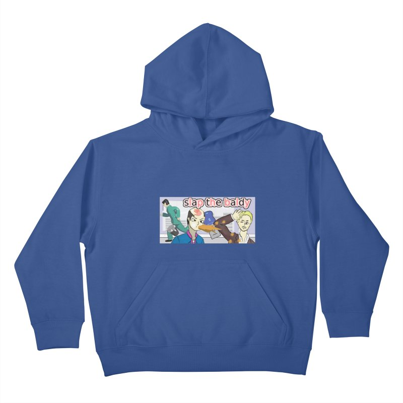 Slap the Baldy Kids Pullover Hoody by SushiMouse's Artist Shop