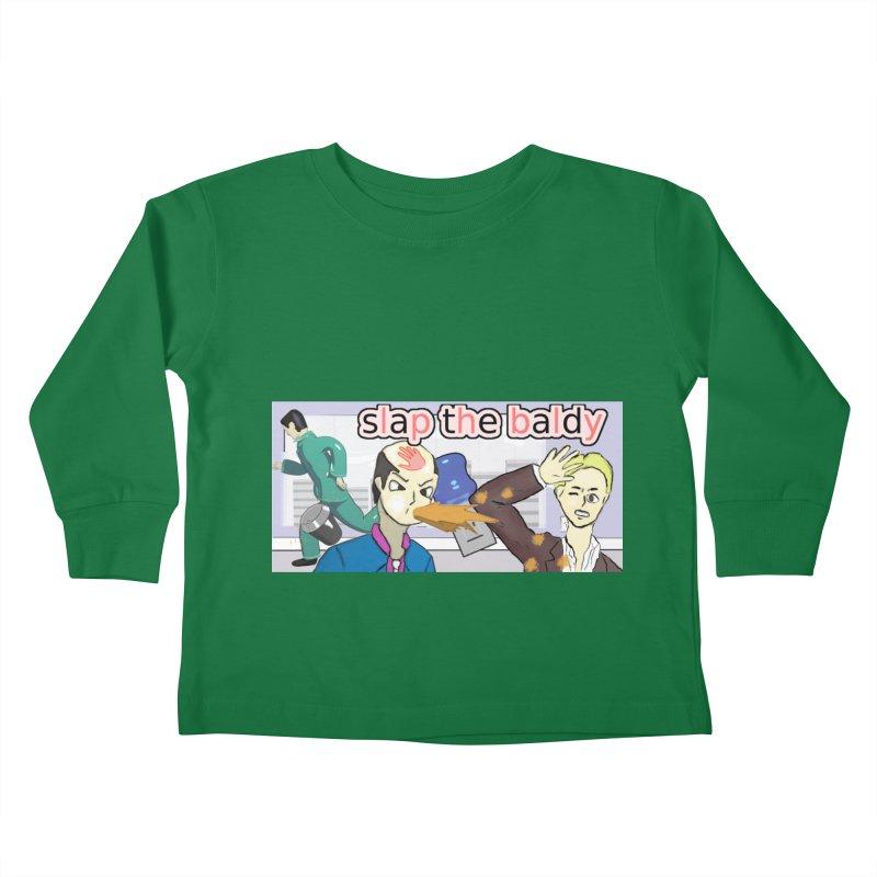 Slap the Baldy Kids Toddler Longsleeve T-Shirt by SushiMouse's Artist Shop