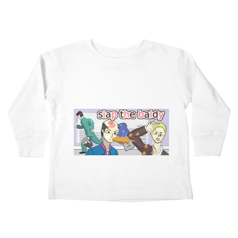 Slap the Baldy Kids Toddler Longsleeve T-Shirt by SushiMouse's Artist Shop