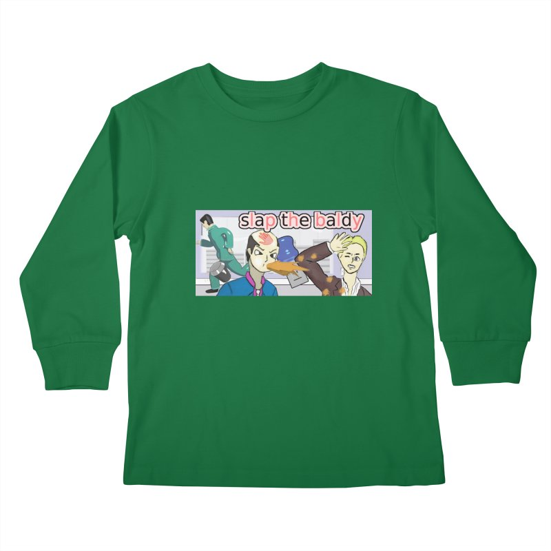 Slap the Baldy Kids Longsleeve T-Shirt by SushiMouse's Artist Shop