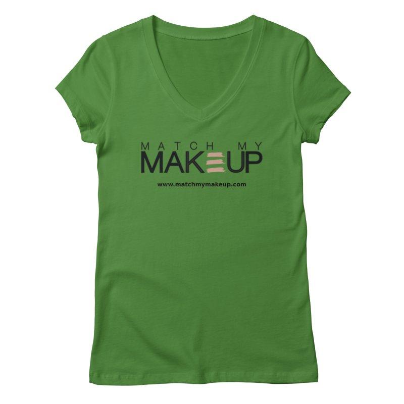 Match My Makeup Women's Regular V-Neck by SushiMouse's Artist Shop