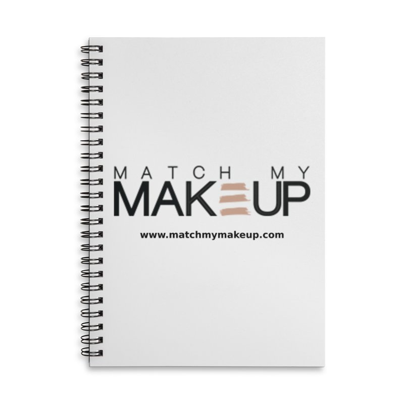 Match My Makeup Accessories Lined Spiral Notebook by SushiMouse's Artist Shop