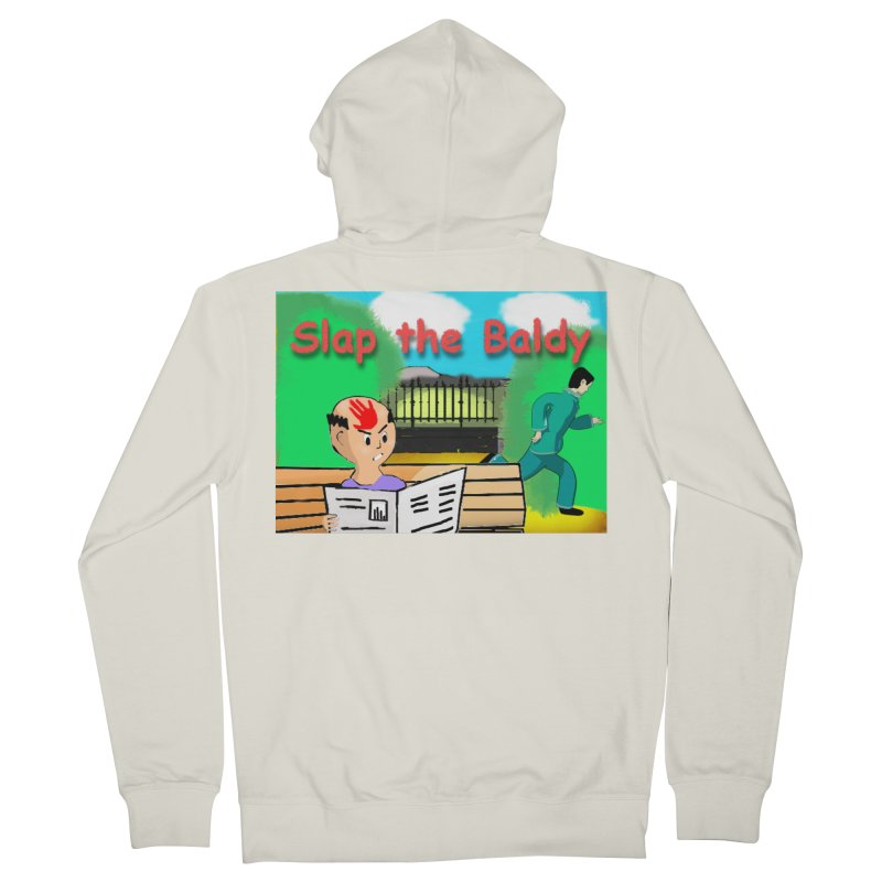 Slap the Baldy Women's French Terry Zip-Up Hoody by SushiMouse's Artist Shop