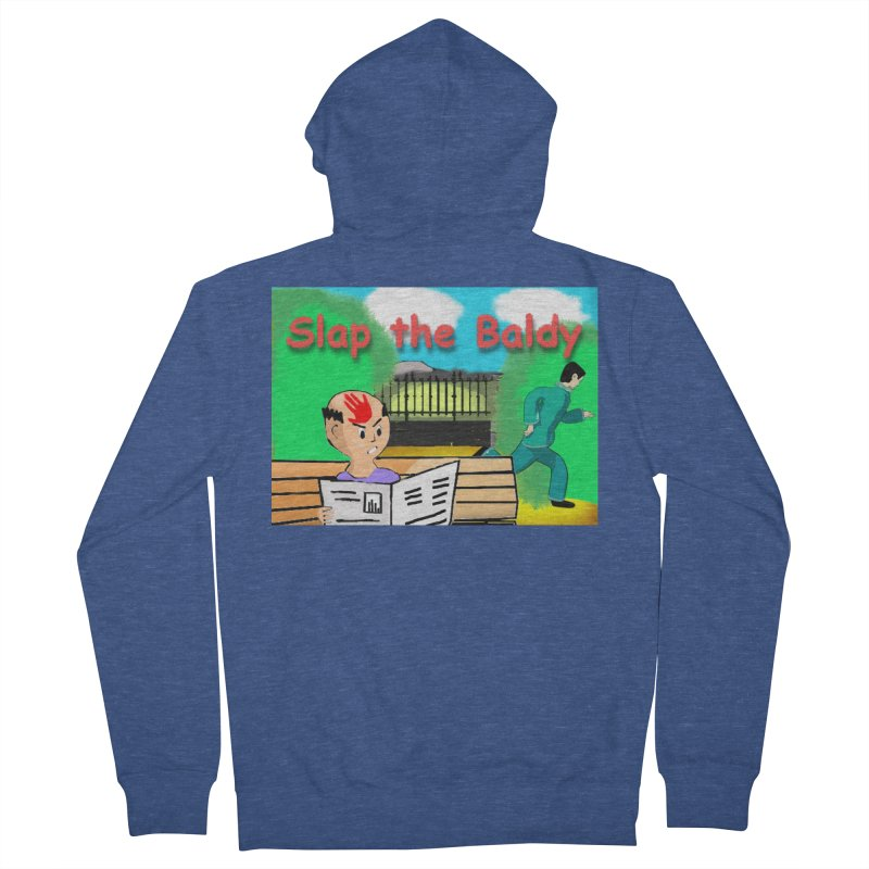 Slap the Baldy Men's French Terry Zip-Up Hoody by SushiMouse's Artist Shop