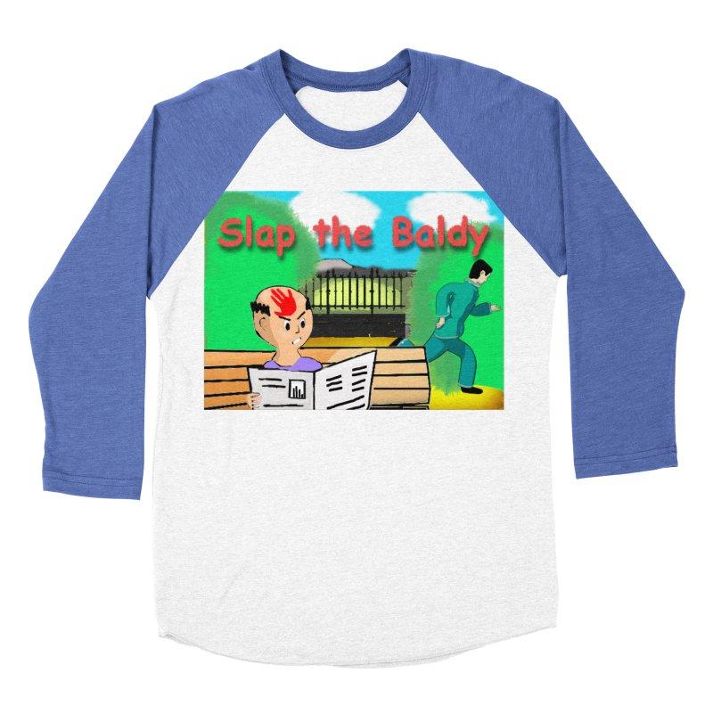 Slap the Baldy Women's Baseball Triblend Longsleeve T-Shirt by SushiMouse's Artist Shop