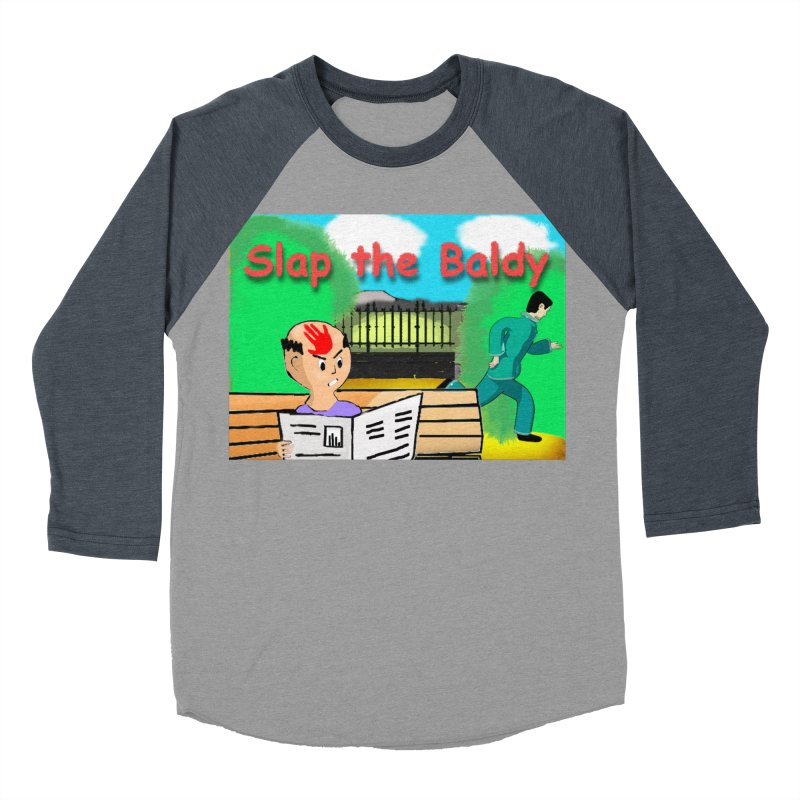 Slap the Baldy Women's Baseball Triblend Longsleeve T-Shirt by SushiMouse's Artist Shop
