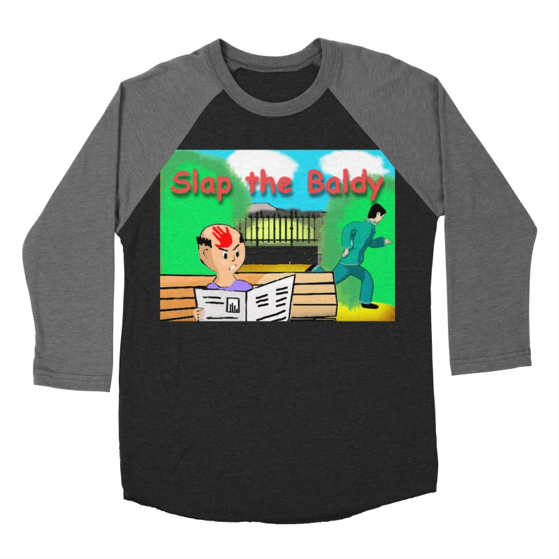 Slap the Baldy Men's Baseball Triblend T-Shirt by SushiMouse's Artist Shop
