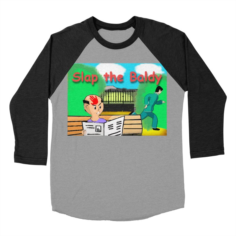 Slap the Baldy Men's Baseball Triblend T-Shirt by SushiMouse's Artist Shop