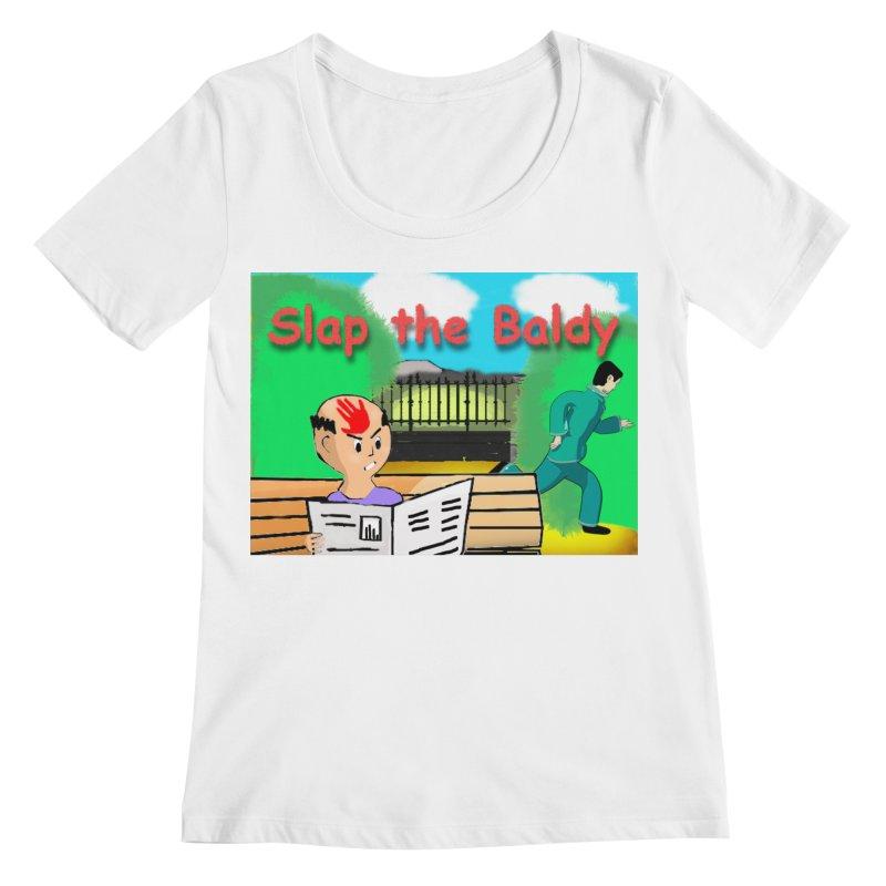 Slap the Baldy Women's Regular Scoop Neck by SushiMouse's Artist Shop
