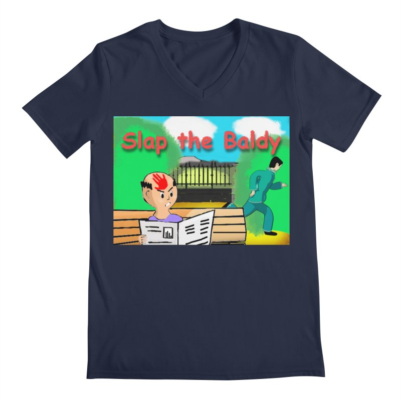 Slap the Baldy Men's Regular V-Neck by SushiMouse's Artist Shop