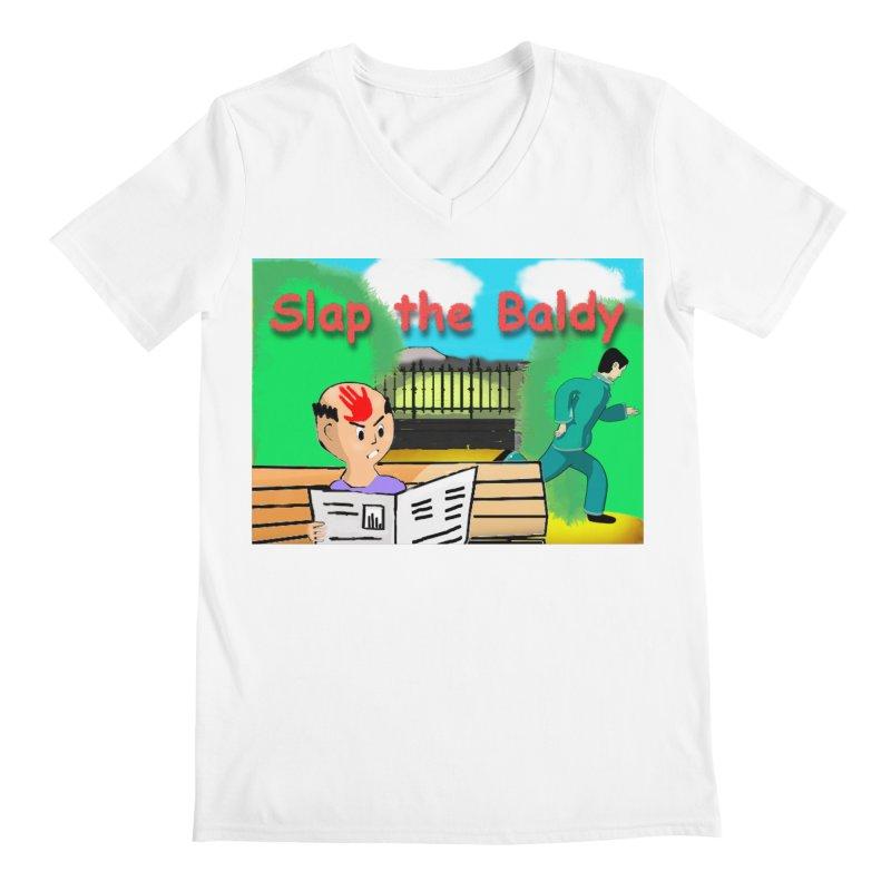 Slap the Baldy Men's Regular V-Neck by SushiMouse's Artist Shop