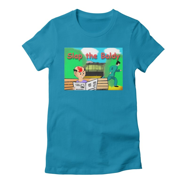 Slap the Baldy Women's Fitted T-Shirt by SushiMouse's Artist Shop