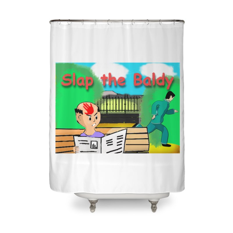 Slap the Baldy Home Shower Curtain by SushiMouse's Artist Shop