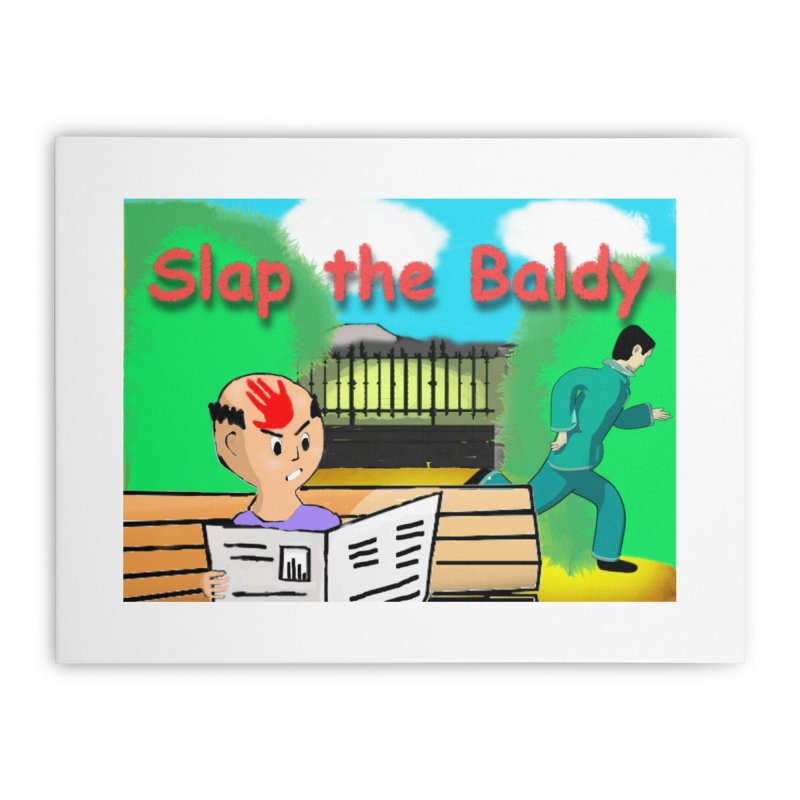 Slap the Baldy Home Stretched Canvas by SushiMouse's Artist Shop
