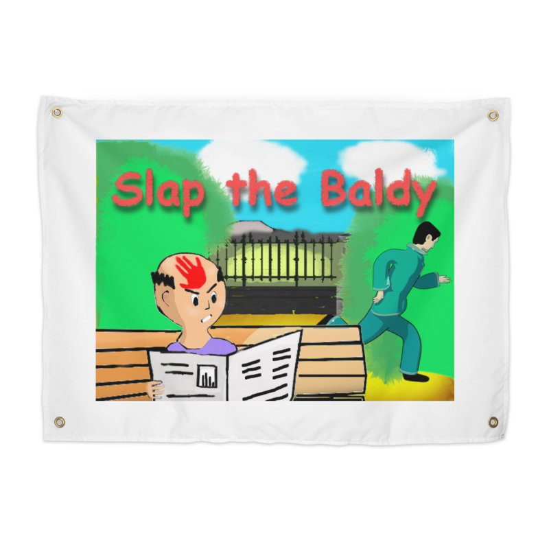 Slap the Baldy Home Tapestry by SushiMouse's Artist Shop