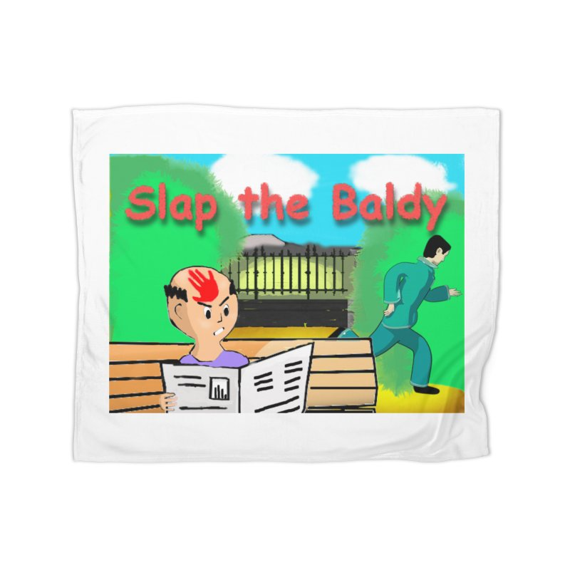 Slap the Baldy Home Fleece Blanket Blanket by SushiMouse's Artist Shop
