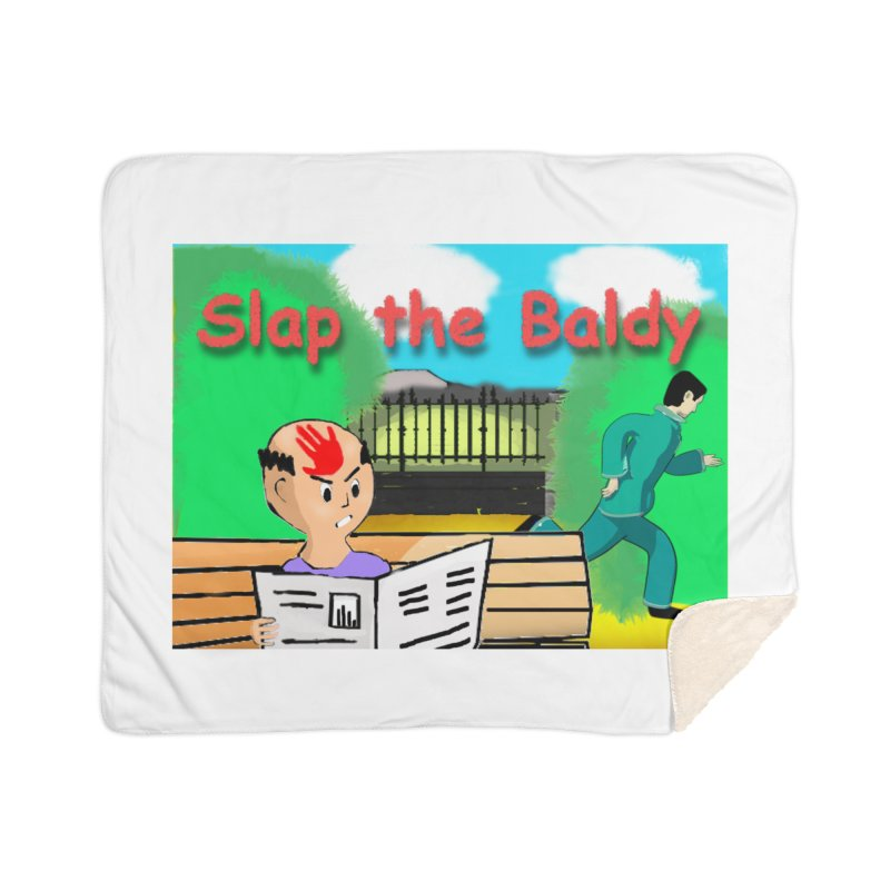 Slap the Baldy Home Sherpa Blanket Blanket by SushiMouse's Artist Shop