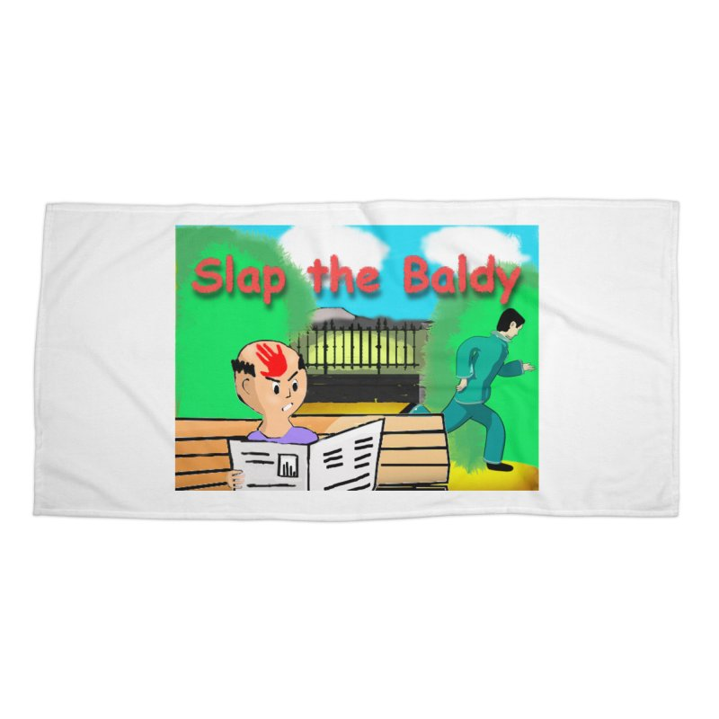Slap the Baldy Accessories Beach Towel by SushiMouse's Artist Shop