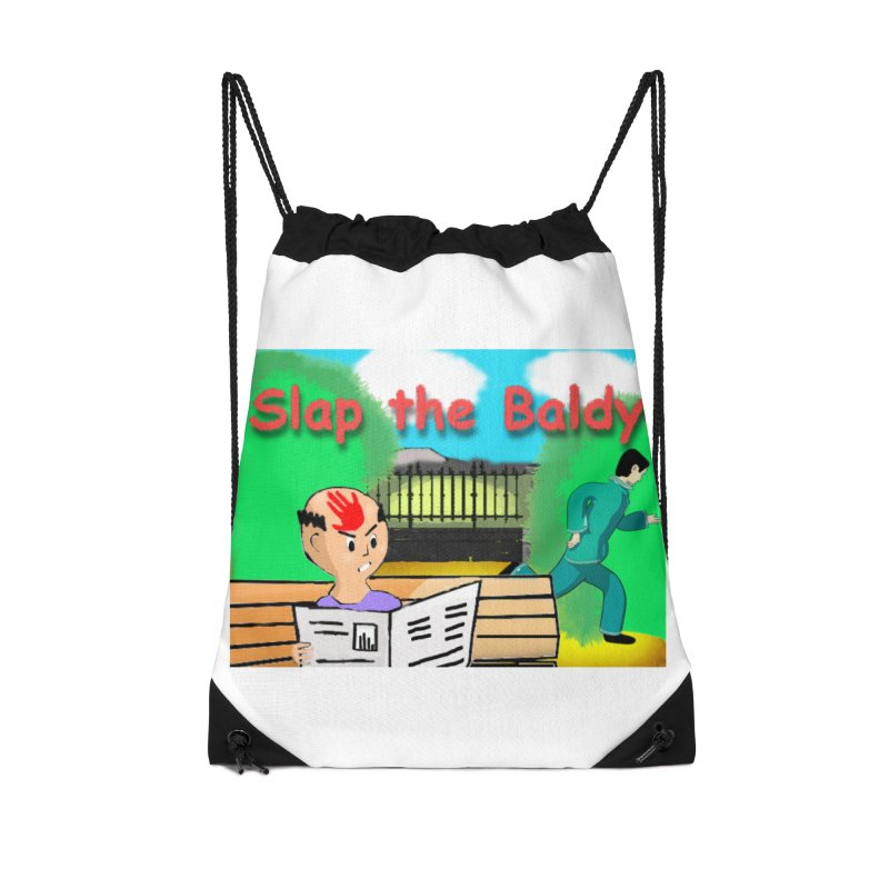 Slap the Baldy Accessories Drawstring Bag Bag by SushiMouse's Artist Shop