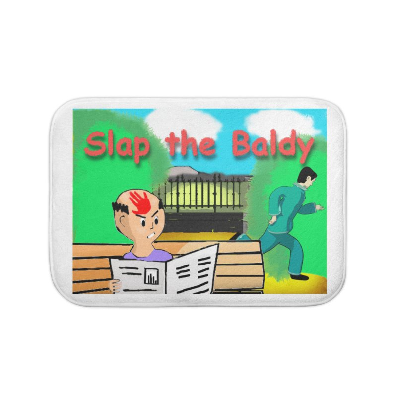 Slap the Baldy Home Bath Mat by SushiMouse's Artist Shop
