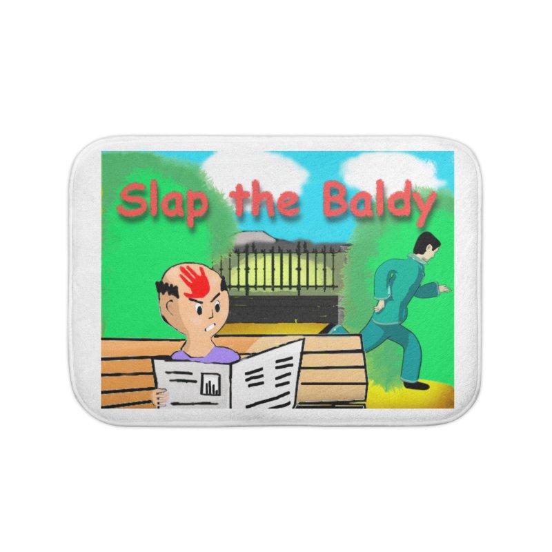 Slap the Baldy Home Bath Mat by SushiMouse's Artist Shop