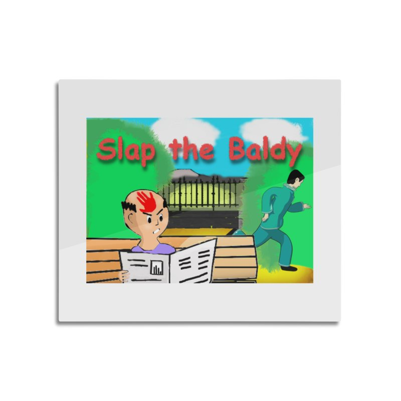 Slap the Baldy Home Mounted Aluminum Print by SushiMouse's Artist Shop