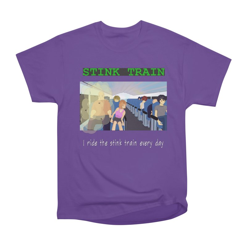 Stink Train - the Puzzle game where you have to avoid the smelly passengers Men's Heavyweight T-Shirt by SushiMouse's Artist Shop