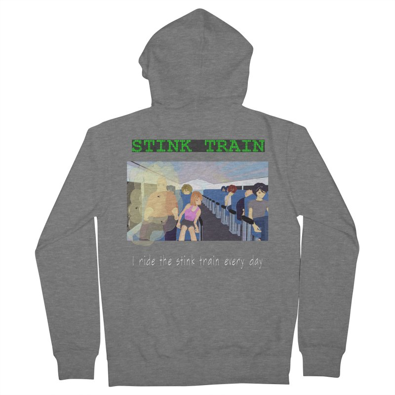 Stink Train - the Puzzle game where you have to avoid the smelly passengers Women's French Terry Zip-Up Hoody by SushiMouse's Artist Shop