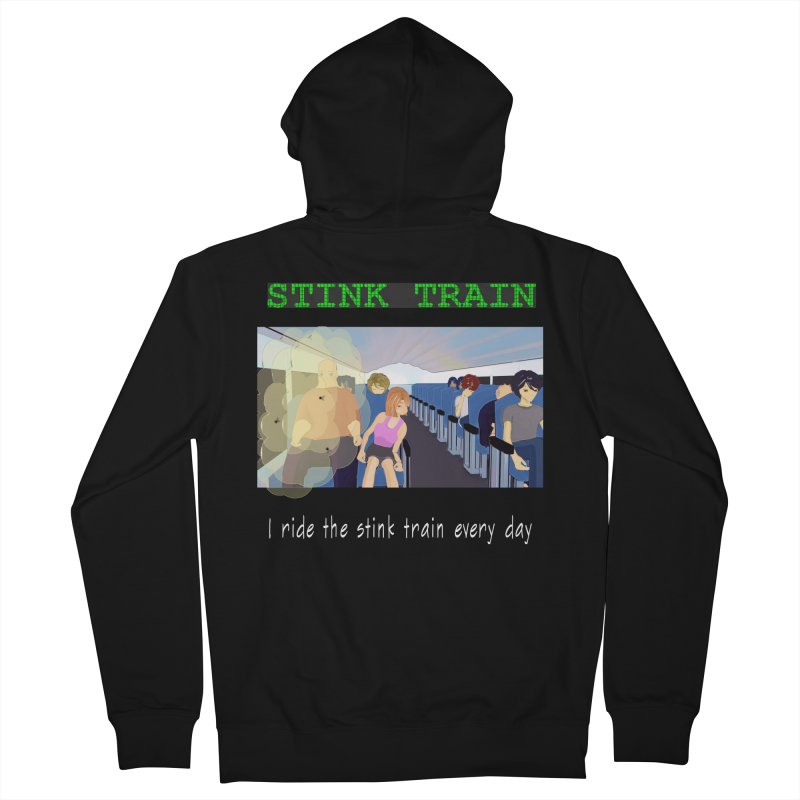 Stink Train - the Puzzle game where you have to avoid the smelly passengers Women's Zip-Up Hoody by SushiMouse's Artist Shop