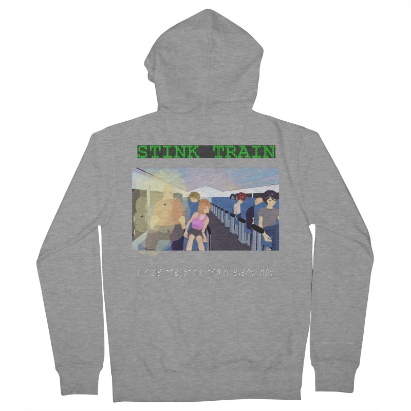 Stink Train - the Puzzle game where you have to avoid the smelly passengers Men's Zip-Up Hoody by SushiMouse's Artist Shop