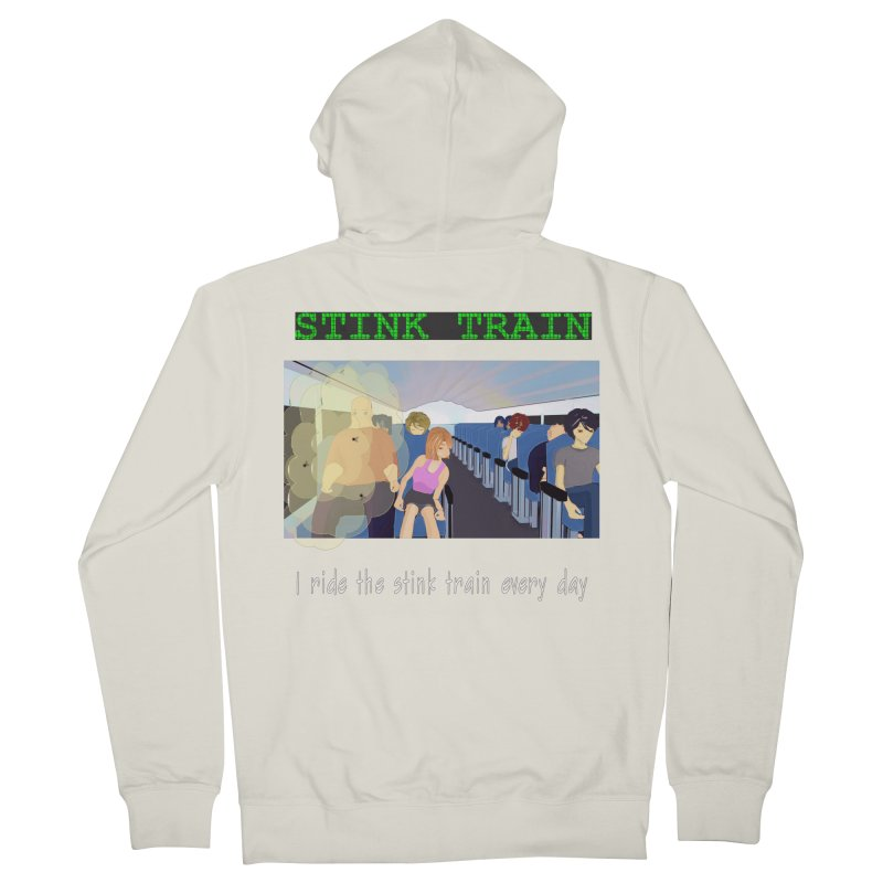 Stink Train - the Puzzle game where you have to avoid the smelly passengers Men's French Terry Zip-Up Hoody by SushiMouse's Artist Shop
