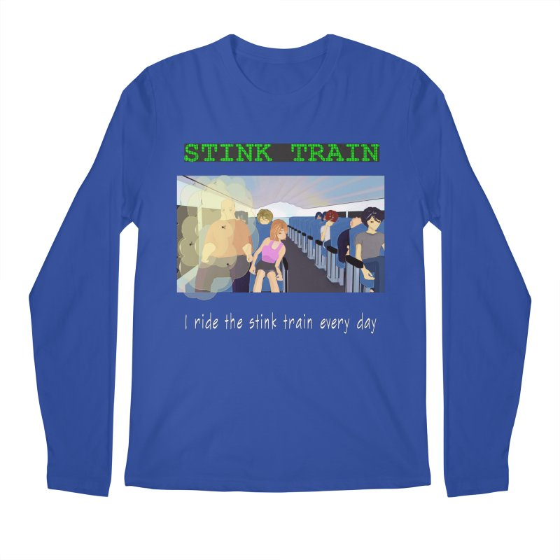 Stink Train - the Puzzle game where you have to avoid the smelly passengers Men's Regular Longsleeve T-Shirt by SushiMouse's Artist Shop