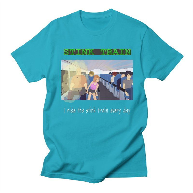 Stink Train - the Puzzle game where you have to avoid the smelly passengers Men's Regular T-Shirt by SushiMouse's Artist Shop