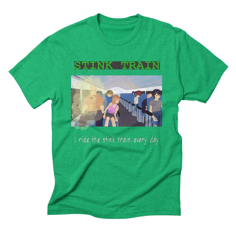 Stink Train - the Puzzle game where you have to avoid the smelly passengers Men's Triblend T-Shirt by SushiMouse's Artist Shop