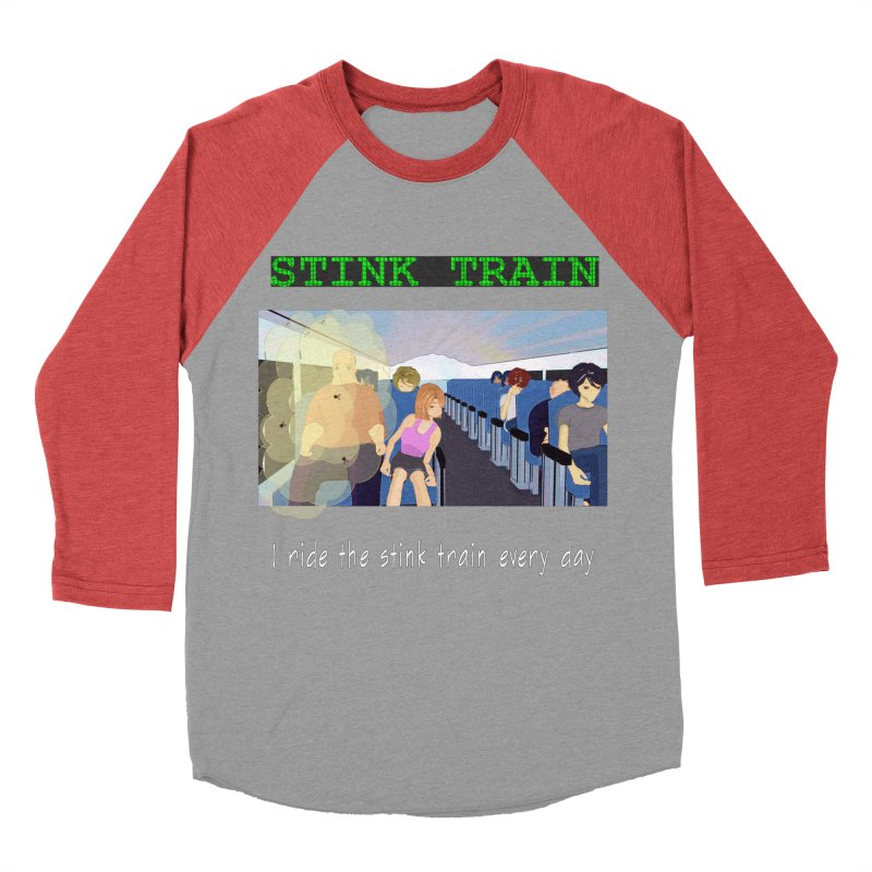 Stink Train - the Puzzle game where you have to avoid the smelly passengers Men's Baseball Triblend Longsleeve T-Shirt by SushiMouse's Artist Shop