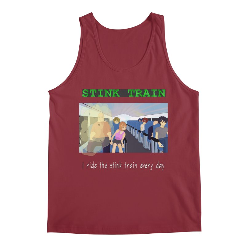 Stink Train - the Puzzle game where you have to avoid the smelly passengers Men's Tank by SushiMouse's Artist Shop