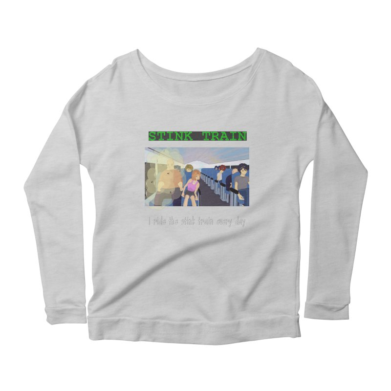 Stink Train - the Puzzle game where you have to avoid the smelly passengers Women's Scoop Neck Longsleeve T-Shirt by SushiMouse's Artist Shop