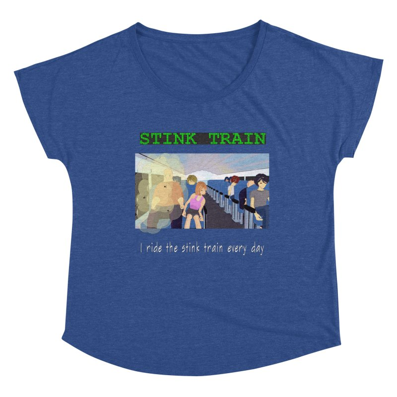Stink Train - the Puzzle game where you have to avoid the smelly passengers Women's Dolman Scoop Neck by SushiMouse's Artist Shop