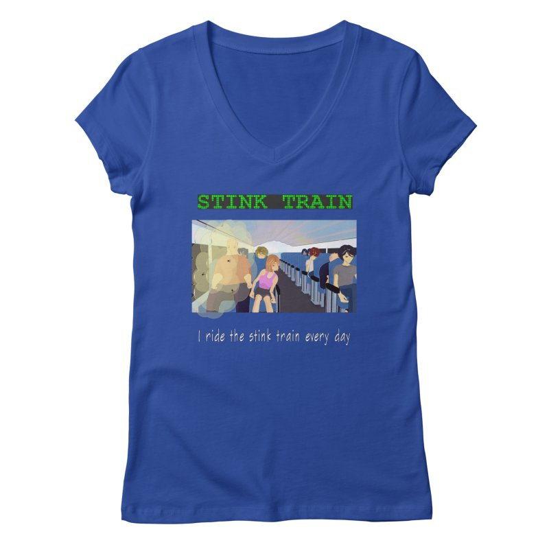 Stink Train - the Puzzle game where you have to avoid the smelly passengers Women's Regular V-Neck by SushiMouse's Artist Shop