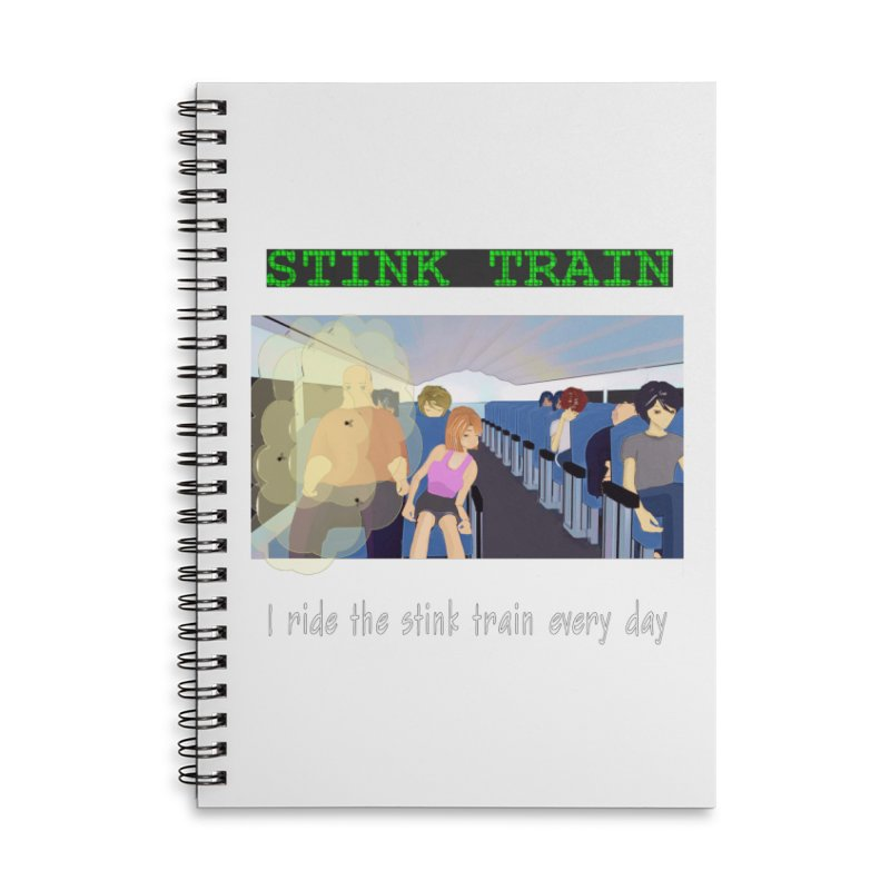 Stink Train - the Puzzle game where you have to avoid the smelly passengers Accessories Lined Spiral Notebook by SushiMouse's Artist Shop