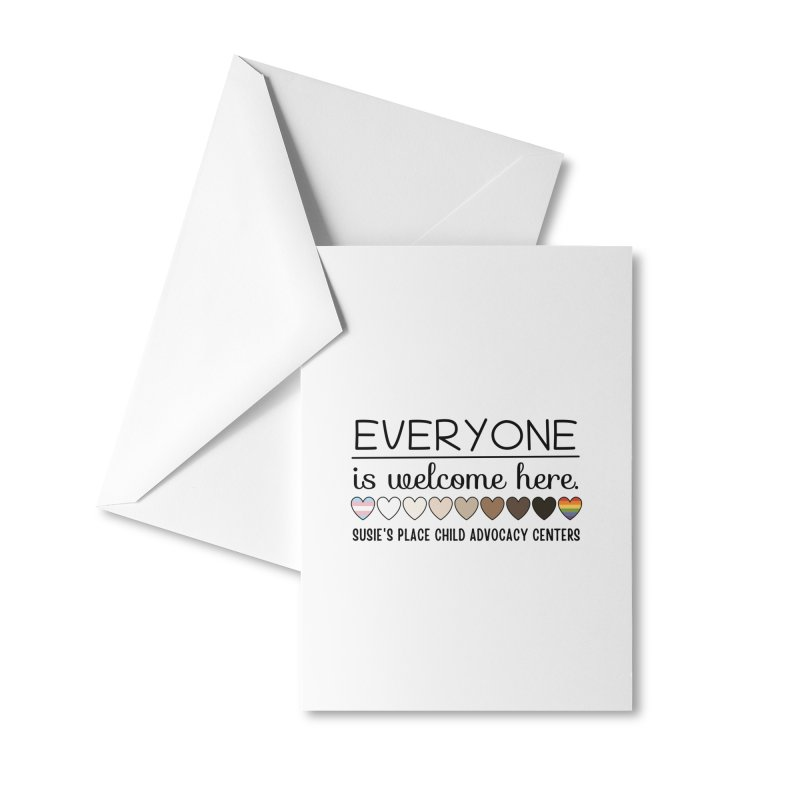 Everyone's Welcome Accessories Greeting Card by Susie's Place