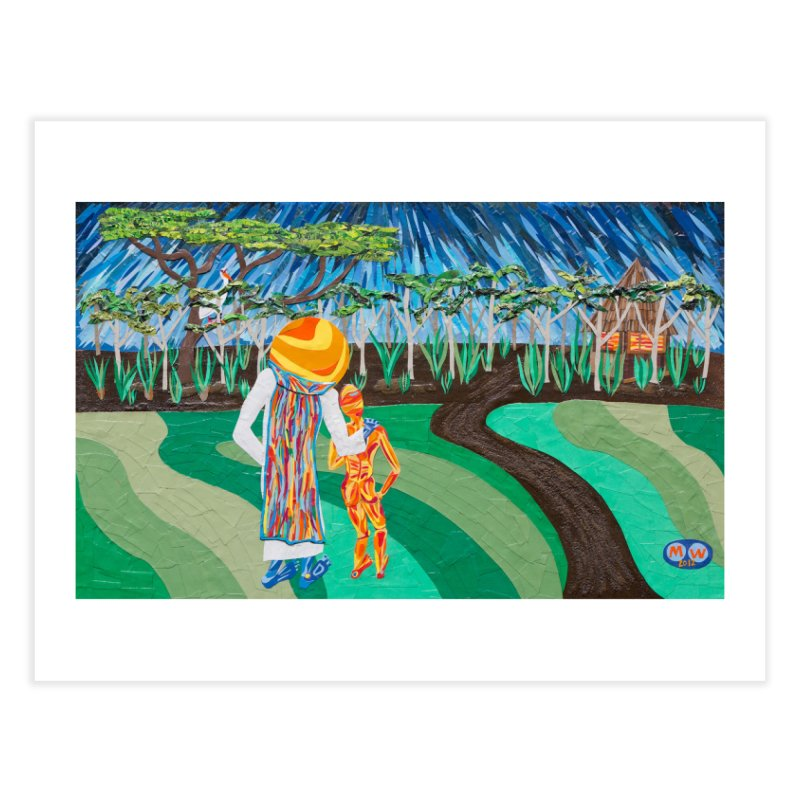 Original artwork:  One Night in Peru (stickers and prints) Fine Art Prints Fine Art Print by Susquehanna Alchemy's SWAG Shop