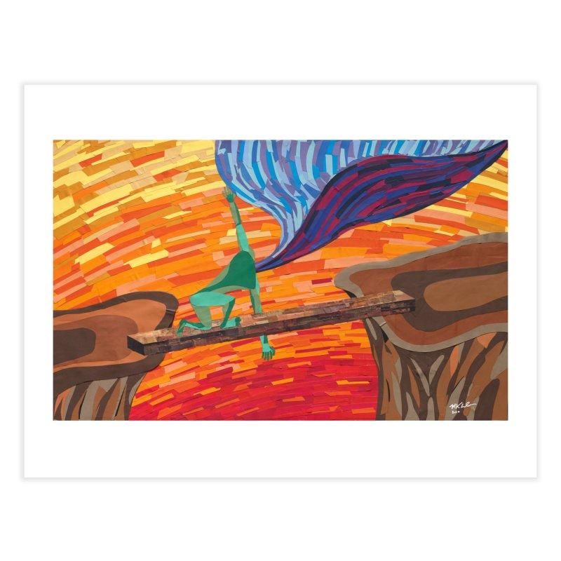 Original artwork:  Facing Fear (prints and stickers) Fine Art Prints Fine Art Print by Susquehanna Alchemy's SWAG Shop