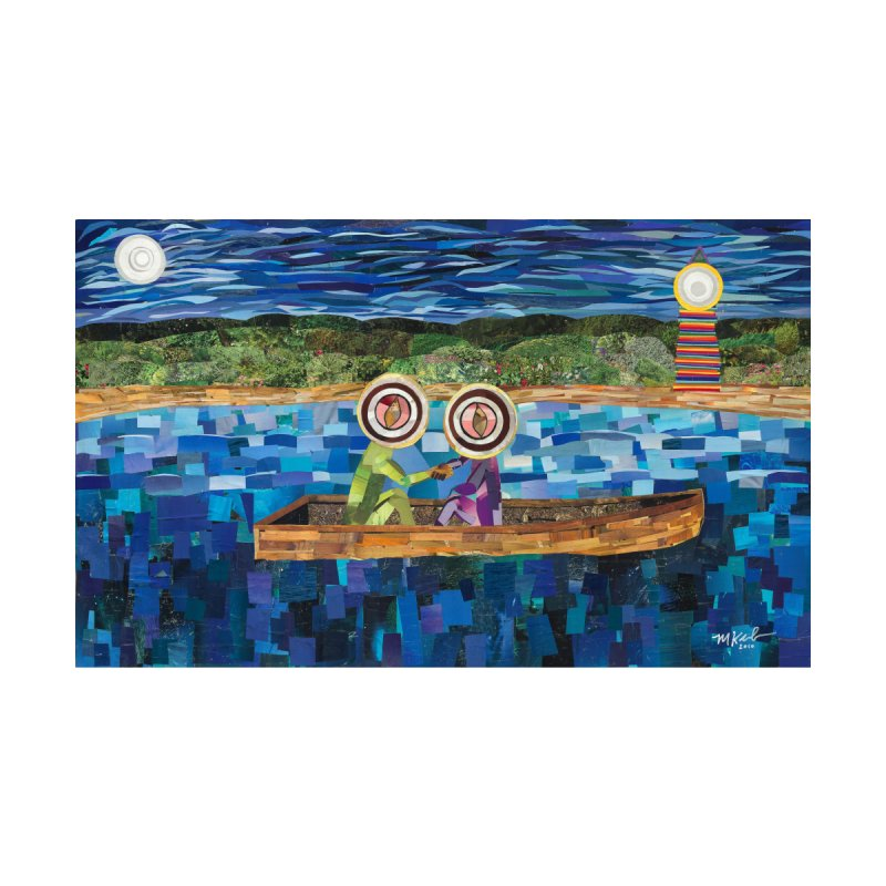 Original artwork:  Two Men in a Boat (prints and stickers) Accessories Zip Pouch by Susquehanna Alchemy's SWAG Shop