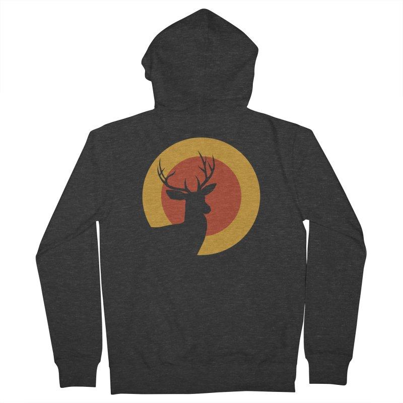 deer in sunny day Men's Zip-Up Hoody by sustici's Artist Shop